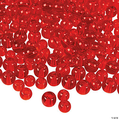 Red Round Bead Assortment - 6mm-7mm