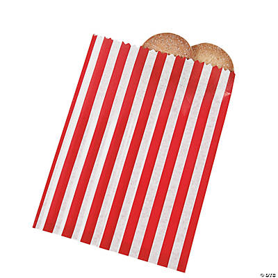 Red Striped Treat Bags