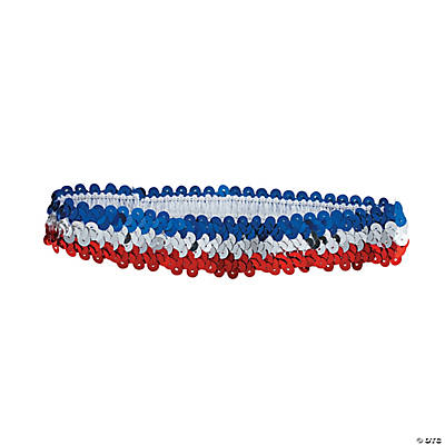 Red, White & Blue Sequin Headbands