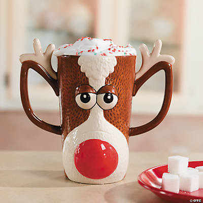 Reindeer Face Ceramic Mug
