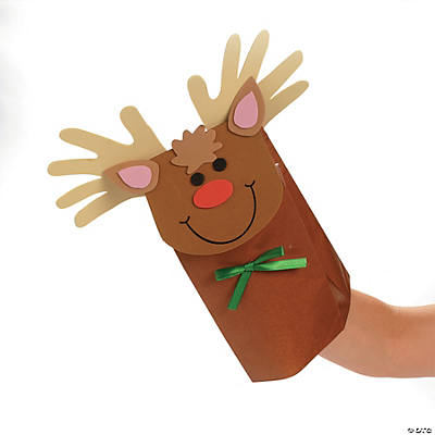 reindeer paper bag puppet craft kit oriental trading