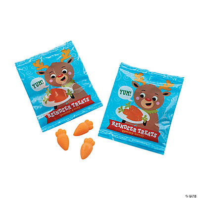 Reindeer Treats Gummy Candy Fun Packs