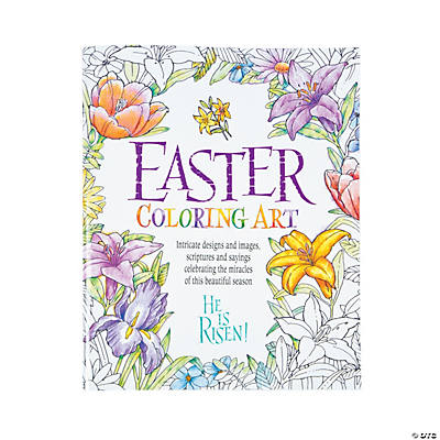 Religious easter adult coloring book for Religious crafts for adults