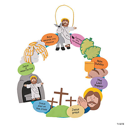 Religious Easter Wreath Craft Kit