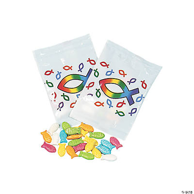 Religious Fish-Shaped Candy Treat Packets