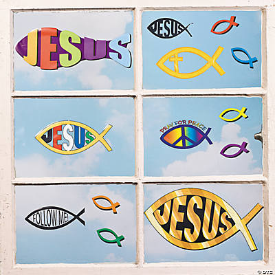Religious Fish Window Clings