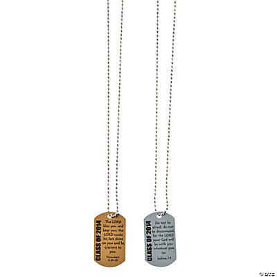 religious graduation dog tag necklaces trading