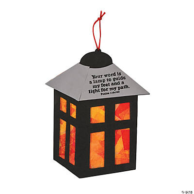 Religious Lantern Tissue Paper Craft Kit
