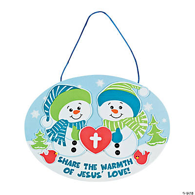 Religious Snowman Sign Craft Kit
