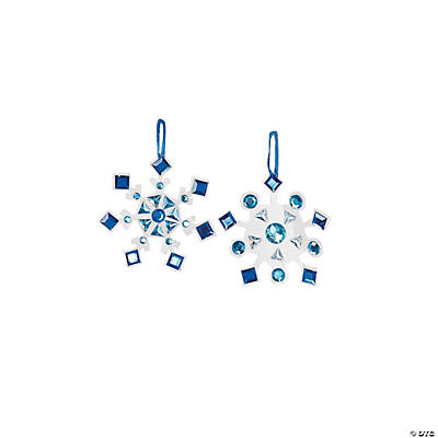 Rhinestone Snowflake Christmas Ornament Craft Kit