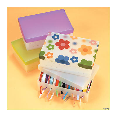 Ribbon Storage Boxes with Lid