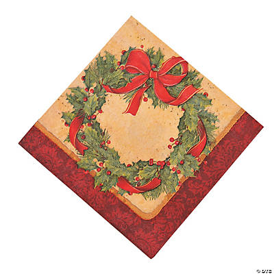 Ribbon Wreath Luncheon Napkins