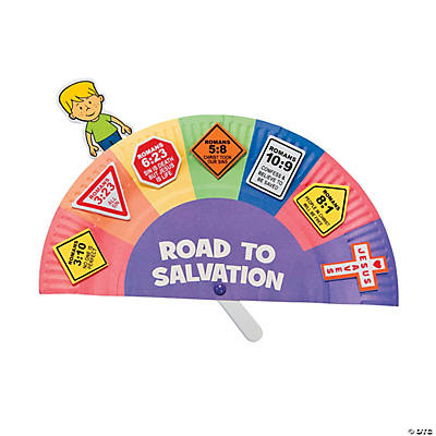 Road to salvation paper plate craft kit oriental trading for Bible school craft supplies