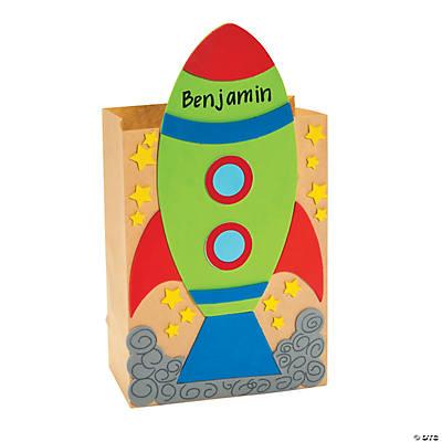 Rocket Valentine Card Holder Craft Kit  Oriental Trading