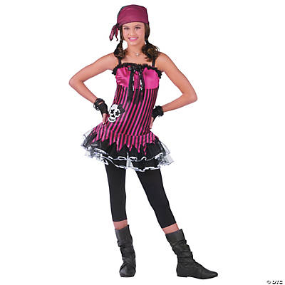 Rockin' Skull Pirate Costume for Women