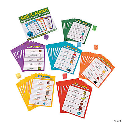 Roll & Match Beginning Sounds Dice Game