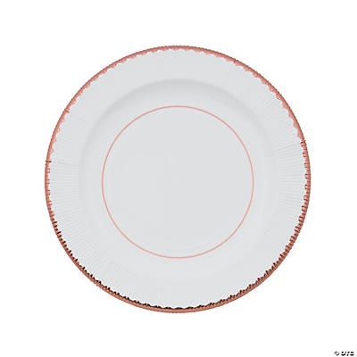 Rose Gold Rimmed Paper Dinner Plates  sc 1 st  Oriental Trading & Rose Gold Rimmed Paper Dinner Plates - Oriental Trading