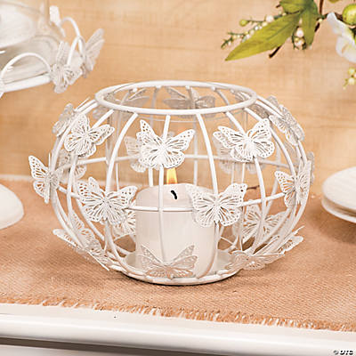 Round Butterfly Candleholder