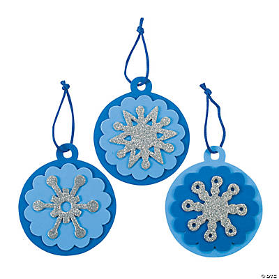 Round Snowflake Christmas Ornament Craft Kit