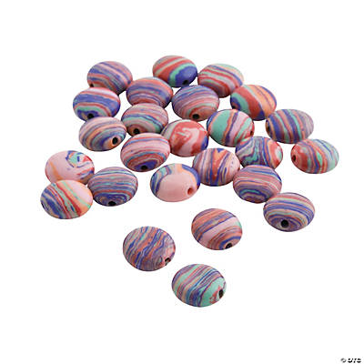 Round Swirl Beads - 10mm