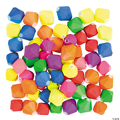 Rubber Coated Bicone Beads - 12mm - 14mm