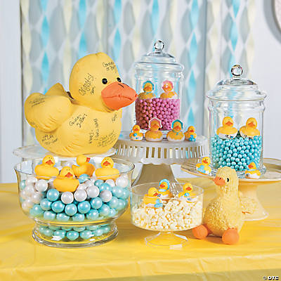 Attractive Rubber Duckie Baby Shower Candy Buffet Idea