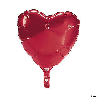 Ruby Red Heart-Shaped Mylar Balloon