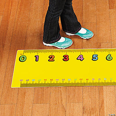 Ruler Floor Cling