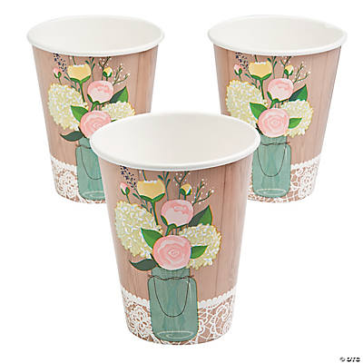 Rustic Wedding Paper Cups