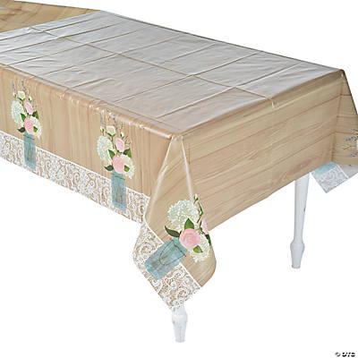 Rustic Wedding Plastic Tablecloth