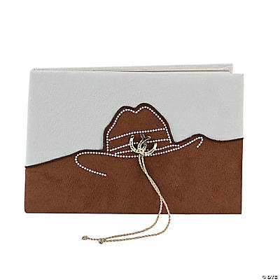 Rustic Western Wedding Guest Book - Oriental Trading - Discontinued