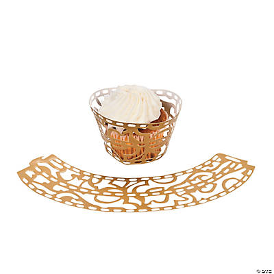 Rustic Western Wedding Laser-Cut Cupcake Wrappers
