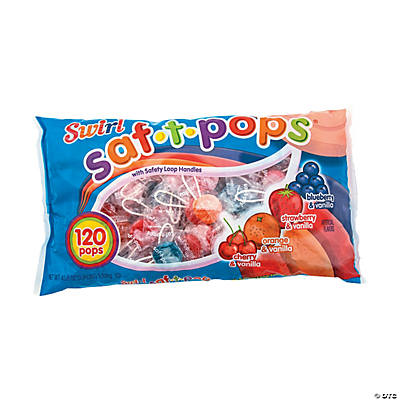 Saf-T-Pops<sup>®</sup> Swirls Lollipops