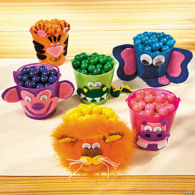 Safari Animal Mini Plastic Pails Idea