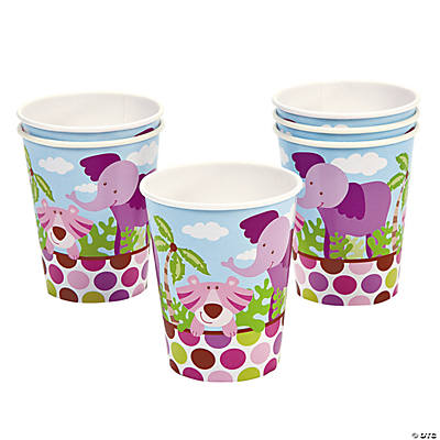 Safari Girl Baby Shower Cups