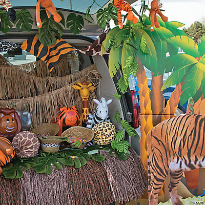 Safari trunk or treat car decorations idea for Animals decoration games