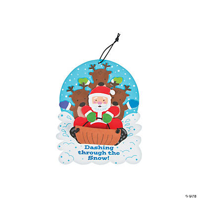 Santa & Reindeer Sign Craft Kit