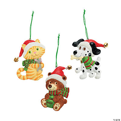 Santa Animal Christmas Ornaments