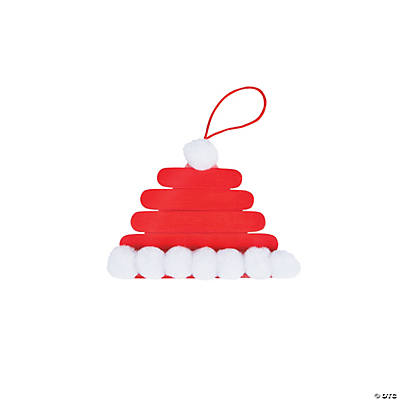 Santa Hat Craft Stick Ornament Craft Kit