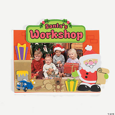 """Santa's Workshop"" Picture Frame Magnet Craft Kit"