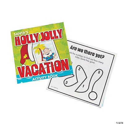 Santa's Vacation Activity Books