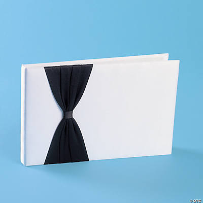 Satin Guest Book with Black Bow
