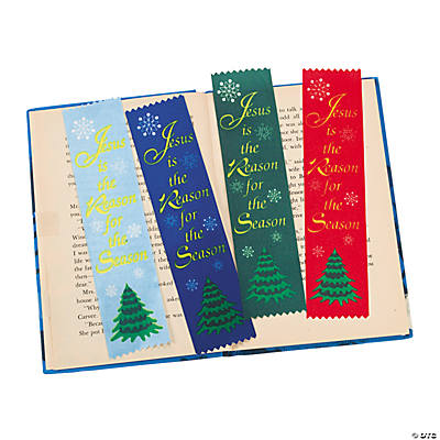 "Satin ""Jesus Is the Reason"" Ribbon Bookmarks"