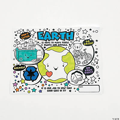 Save the Earth Coloring Contest Sheets