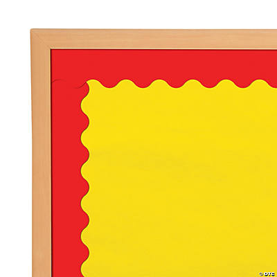 Scalloped Red Bulletin Board Borders