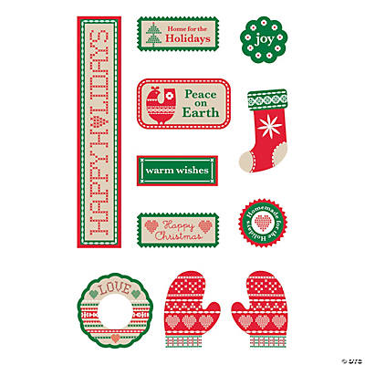 Scandia Jul Tag Stickers
