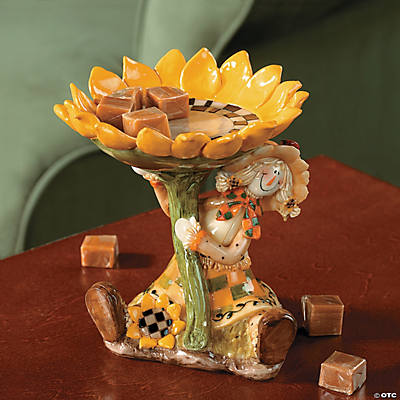 Scarecrow & Sunflower Candy Dish