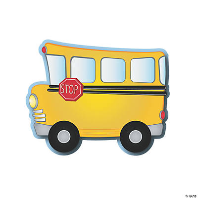 School Bus Bulletin Board Cutouts