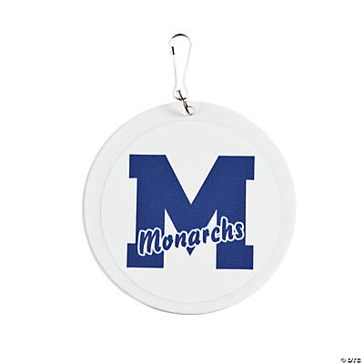 School Spirit Blue Personalized Charms