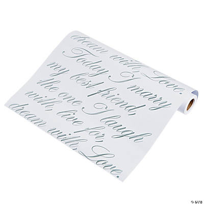 Script Wedding Table Runner